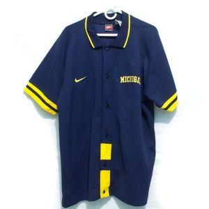 Nike Michigan Wolverines Basketball Jersey Navy